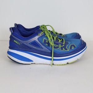 HOKA Bondi 4 Blue Athletic Tennis Shoes Size 12